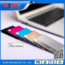 Hot selling new product 2015 polymer battery portable credit card power bank for smart phone and iPhone 6