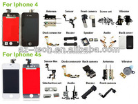 cell phone spare parts for iphone 4s lcd digitizer assembly for repairing