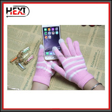 wholesale Fashion Custom design acrylic knit glove with printing logo