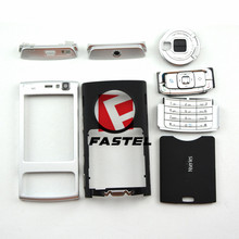 New High Quality Full Complete Mobile Phone housing cover case + English and Russian Keypad For Nokia N95,Silver/Plum/Black/Red