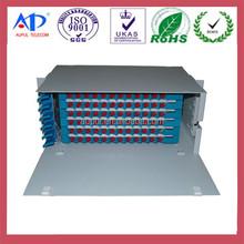 """Optical Fiber Distribution Panel 19"""" Rack Mount With Fiber Management"""