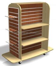 garment gondola mdf slatwall display units 4 way retail fixtures