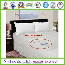 Polyester Terry Waterproof Bed Mattress Protector Queen