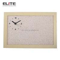 cloth dial quartz wooden wall clocks table clocks for home decor
