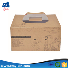 Factory made kraft food packaging birthday cake box
