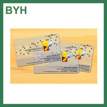 fashionable double sided pvc business cards