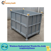 rectangular foldable factory steel crate for warehouse alibaba China