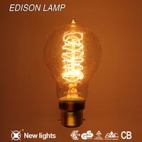 2015 new design A60 40w decorative lamp high quality CE ROHS warm light vintage edison light bulb