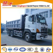 3axles 6x4 HINO 350/380HP10 ton used tipper trucks for sale