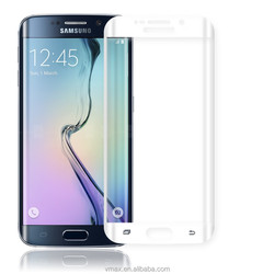 For wholesale !Full screen cover 9H hardness Samsung Galaxy S6 tempered glassglass screen protector2.5D curved edge
