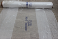 MASKING FILM 3.8Mx100M CLEAR POLYTHENE SHEETING CAR PLASTIC COVER STATIC PAINT