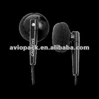Inflight Black Silicone Earbuds