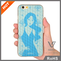 Jules.V sexy lady pattern soft tpu mobile phone back cover compatible for iPhone 6s case