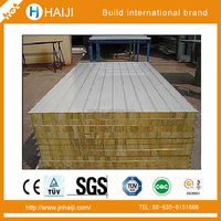Lightweight thermal hot sale and good price fireproof sandwich panel rockwool