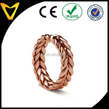 2015 new Aquarello style designer ring ,custom color available ring designs stainless steel fashion ring Braided wedding band