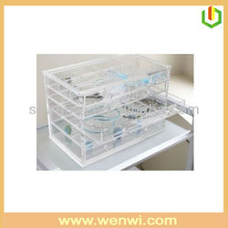 High Quality Transparent Acrylic Used Glass Jewelry Display Cases
