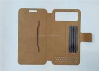 4 4.7 5 5.5 Inch Magic Sticker Design Universal Mobile Phone PU Leather Case
