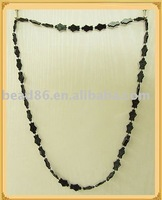 fashion chain necklace with plastic bead factory direct bead