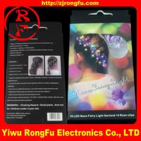Fiber Optic flashing rose hair light up LED rose hair glow in dark