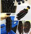 100 extensiones de cabello humano sin procesar del pelo brasileño compra a granel de china