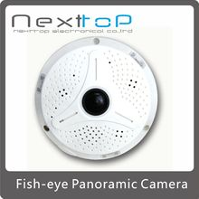WIFI HD 1.3Megapixel (1280*1024) Day / night IR Fish-Eye 360 degrees Panoramic SD card P2P IP Camera C-F130W
