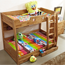 Solid wood bunk bed children's bunk beds twin full bunk bed