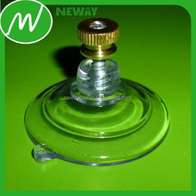 transparent suction cup with screw and nut