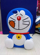 Hot Super 3D Silicon Doraemon Cartoon Cell Phone Back Skin Cover for Iphone 5 5s
