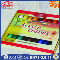 18 colors in display box Acrylic paint for Artists