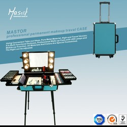 makeup case with lights mirror professional makeup trolley case beauty case