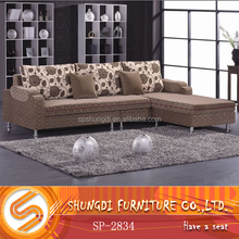Latest luxury Fabric recliner living room sofa sets