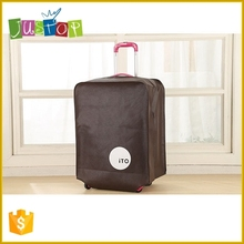 Justop Cheap Factory Customized Non Woven Travel Luggage Carrier Bag Cover