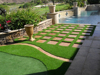 Swimming pool surrounds applications synthetic turf grass artificial landscaping turf