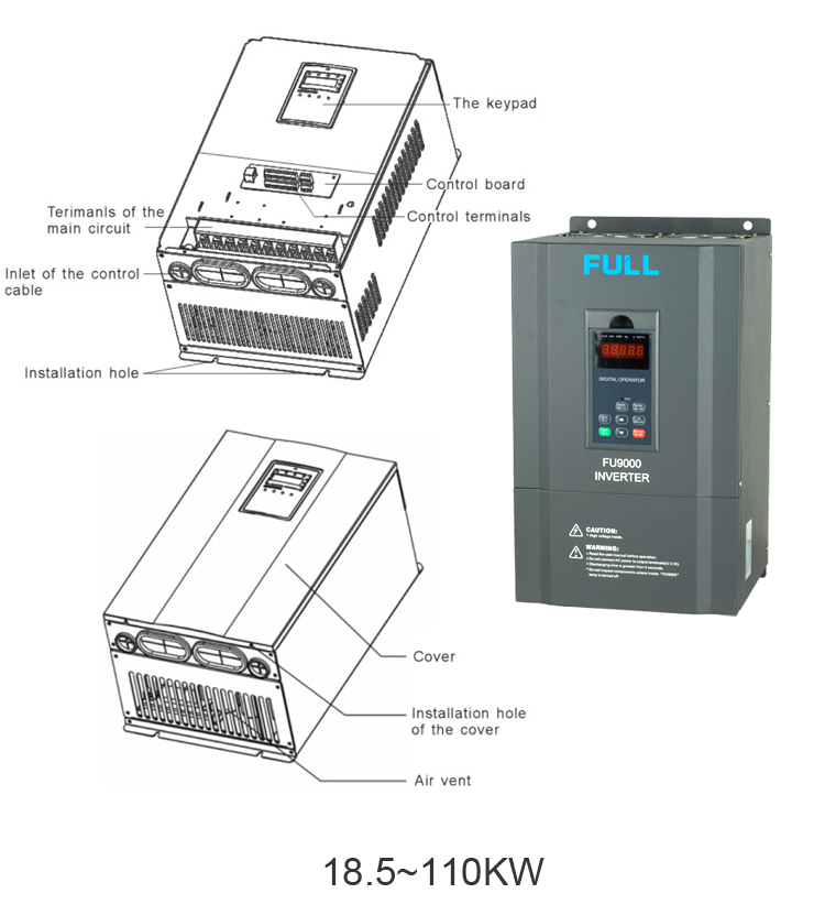 Single Phase To Three Phase 10kw Frequency Inverter View