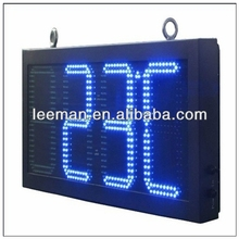 led displays 7 segment 7 digit clock countdown p3 led sign xxx moves wall clock with temperature and humidity display