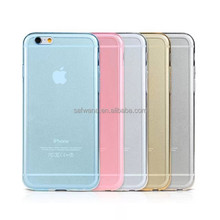2015 New Ultra Thin Transparent Crystal Clear TPU Case Cover for iPhone 6 Mix color