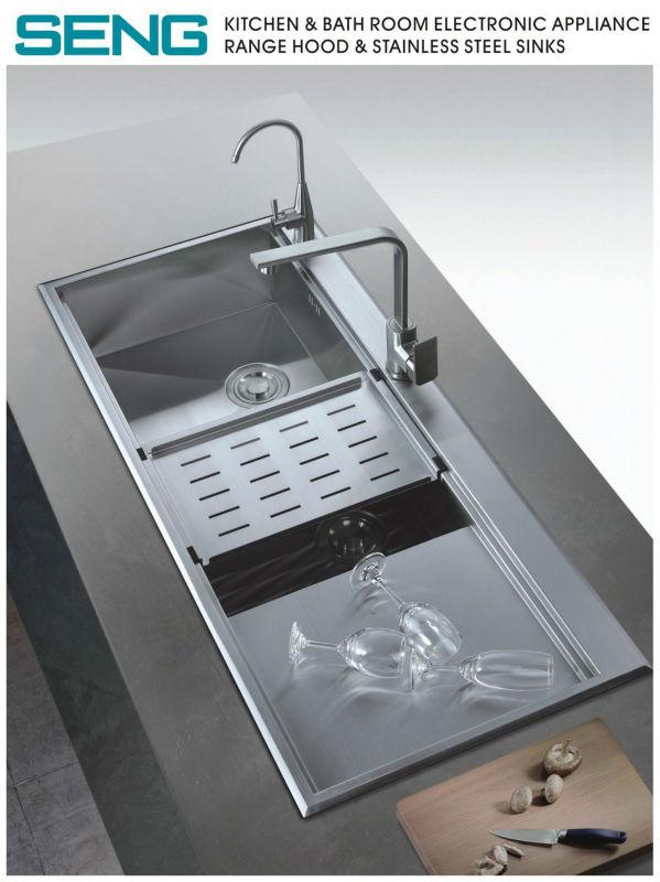Gran cocina fregadero fregaderos de acero inoxidable - Fregaderos de acero inoxidable ...
