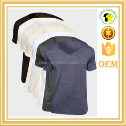 comfortable cotton v neck t shirts customized, jersey fabric
