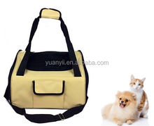 Fabric luxury car seat & carrier cat small dog pet puppy travel cage booster with Harness