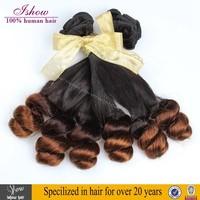 Free shipping to Nigeria Ombre Brazilian Virgin Hair Aunty Funmi Human Hair 3bundles of 14inch