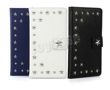 2015 newest leather wallet Star design phone case for Sony Xperia Z4 SO-03G