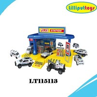 Diecast metal car model police station toys with US& EU certificates