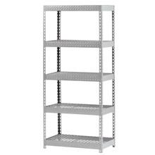 "Edsal TP3618W Gray Steel Storage Rack, 4000lbs Capacity, 36"" Width x 72"" Height x 18"" Depth"