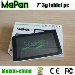 shenzhen electronics 7 inch dual core android 3g tablet , mapan android tablet 1920*1080