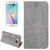New design Cloth Texture leather cover for samsung s6 edge plus phone case