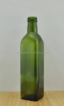 Square Glass bottle for olive oil empty 500ml olive oil glass bottles wholesale Dark green olive oil bottles