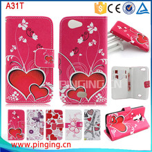 wholesale cell phone cases wallet flip leather case for oppo a31t