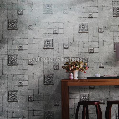 Texture brick wallpaper 3d brick wall papers for hotel for 3d wallpaper for office wall