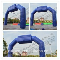 Blue 6 meters high 10 meters long PVC Advertising inflatable model air arch with blower Support custom