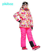 Phibee Kids High Quality Thick Winter Ski Suit ski pants and jacket Direct factory sales